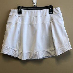 Athleta white skort with inner pocket size M